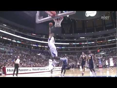 Jeremy Evans block and dunk over Rony Turiaf