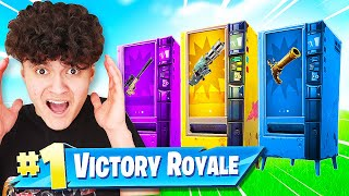 WINNING with VENDING MACHINE ONLY Challenge in Fortnite