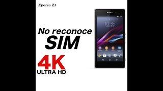 Xperia Z1 No reconoce la SIM