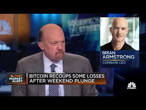 Jim Cramer on how investors should handle bitcoin's weekend plunge