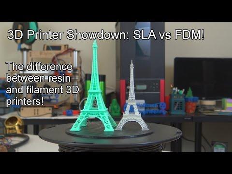 3D Printers: Are resin or filament printers better? SLA vs FDM!