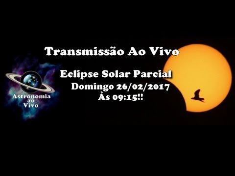 Astronomia Ao Vivo #131 - Transmissão AO VIVO do Eclipse Solar Parcial