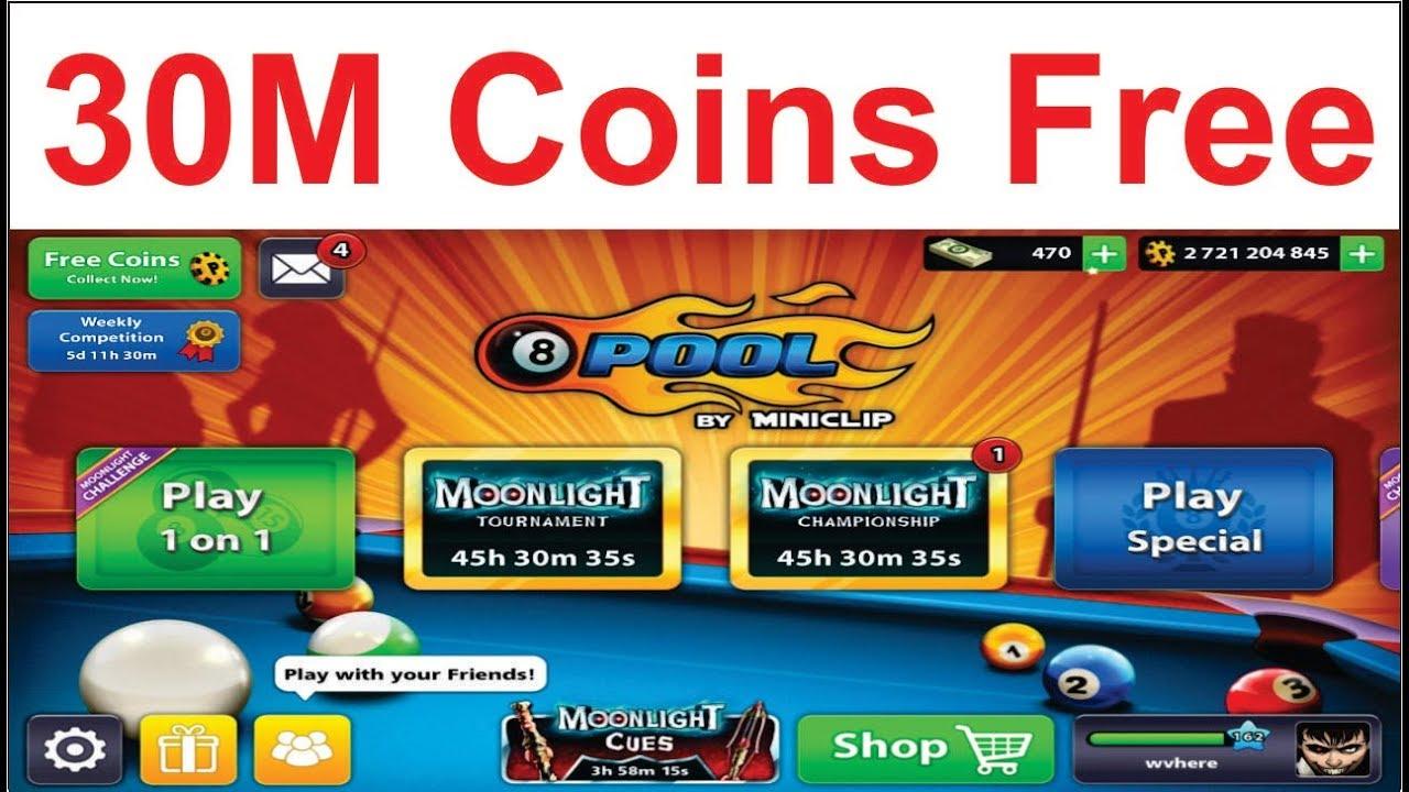 8 Ball Pool 30M Coins 2018 - 8 Ball Pool Free Coins (Urdu/Hindi) -