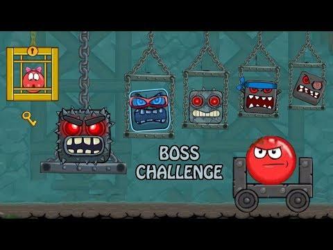 Kırmızı Top 4 BOSS Challenge | Bölüm Sonu Canavarları | Red Ball 4