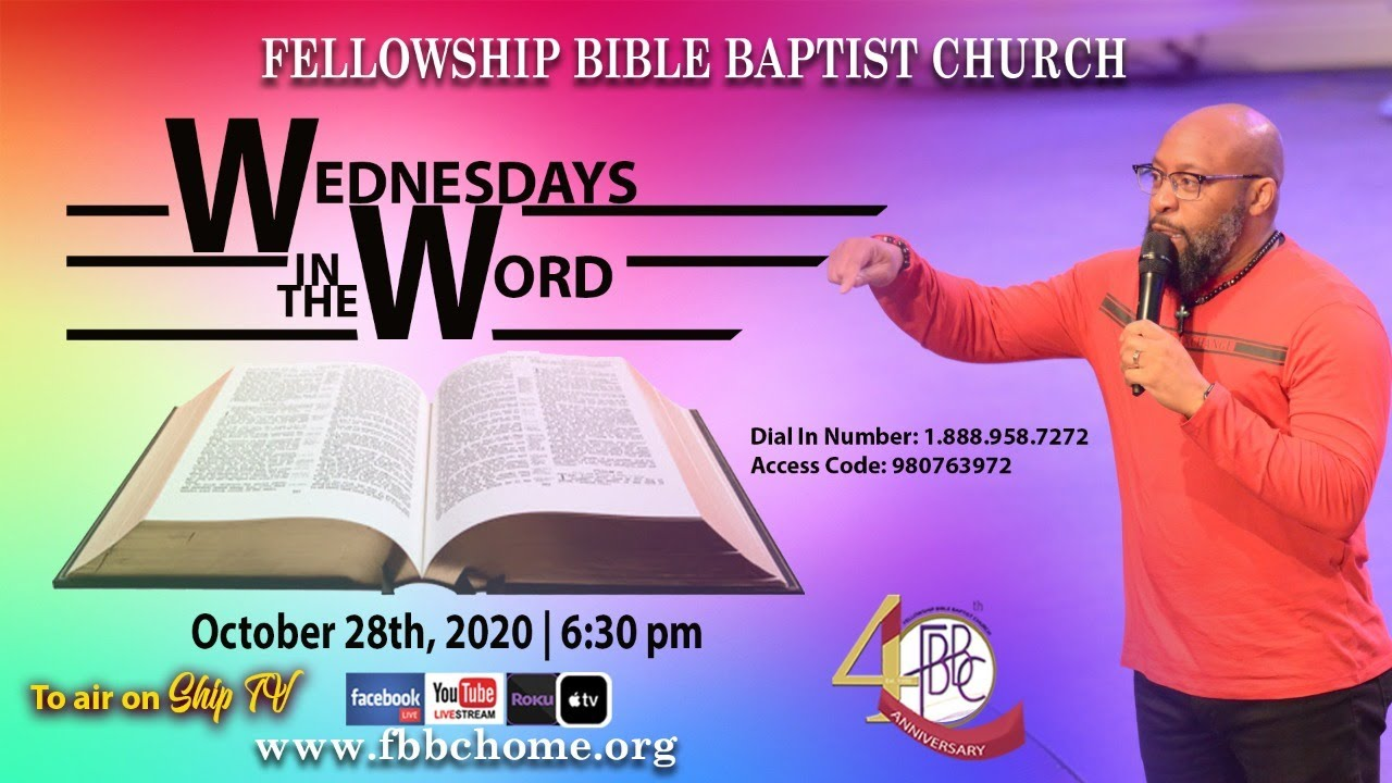 Wednesdays In The Word! October 28, 2020