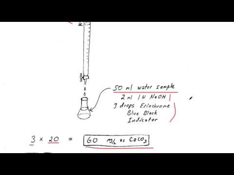Calcium Hardness Titration With Calculations To Get Ppm As CaCO3
