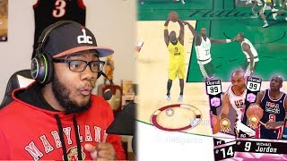 NBA 2k17 MyTEAM - Pink Diamond 99 OVR Michael Jordan! Very Late Red Buzzer Beater + 360 Dunk!