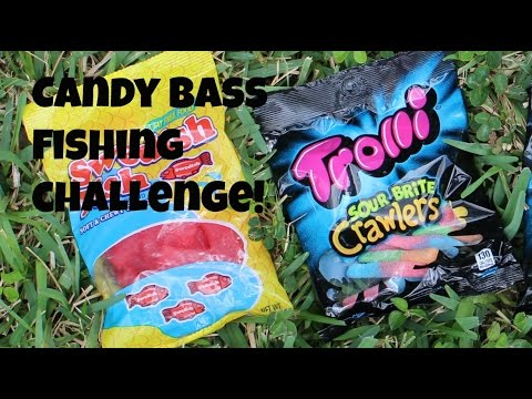 Candy Bass Fishing Challenge!!