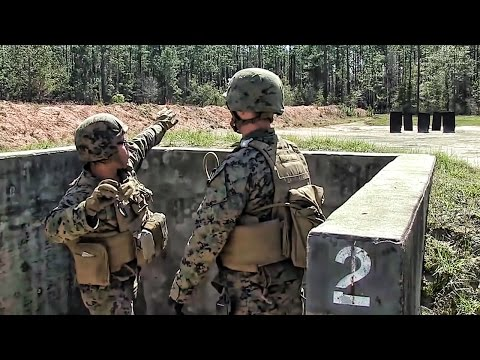 Marines Practice Throwing  Grenades