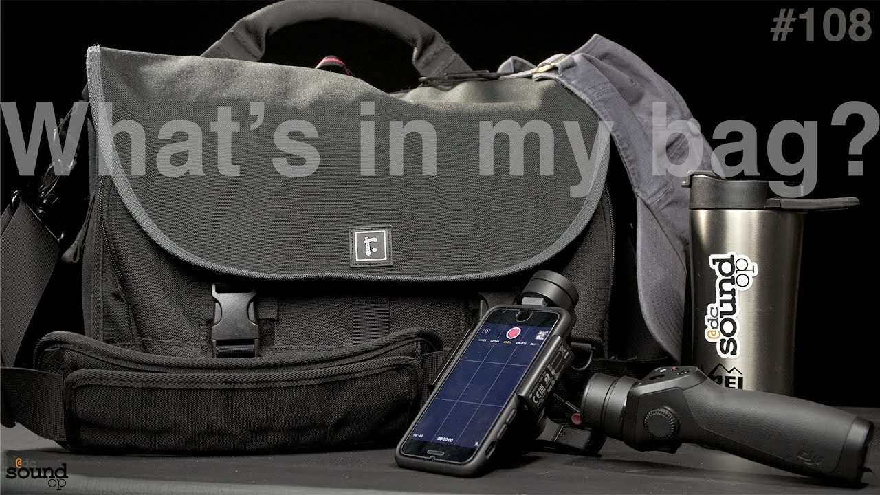 360a22fe181b 108 - What's in my Bag - 2018 edition - Around town Pro Audio Kit ...