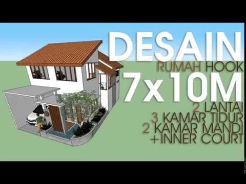 DESAIN RUMAH MINIMALIS HOOK 7x10m