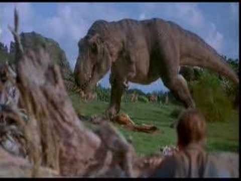 Jurassic Park T-rex Music Video