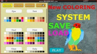 Feather Family 🎨 NEW COLORS Roblox | Save and Load colors | coloring, Falcon birds