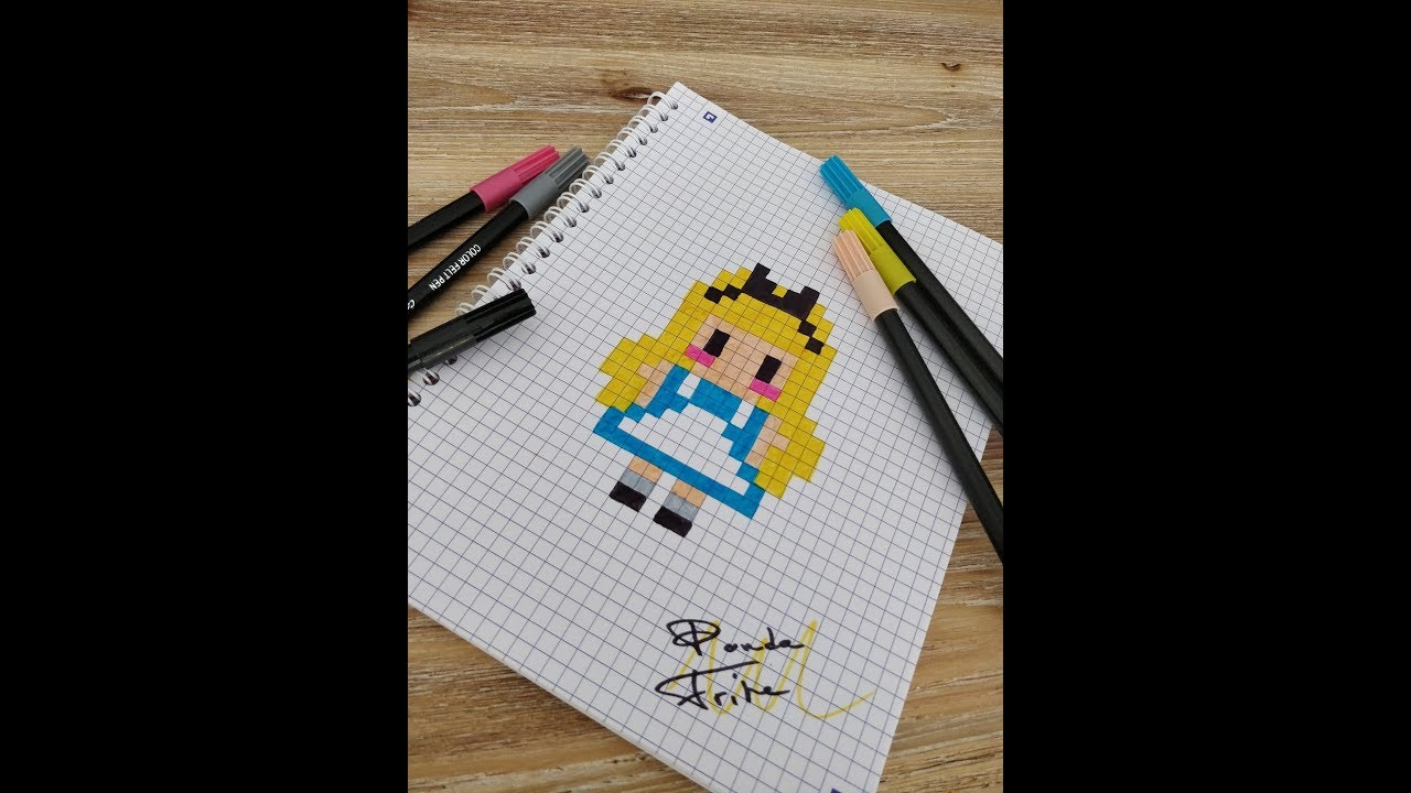 Pixel Art Alice Au Pays Des Merveilles Alice In Wonderland Youtube