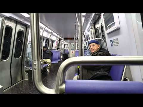 Riding D.C. Metro 7000 series Red Line train from Grosvenor to White Flint