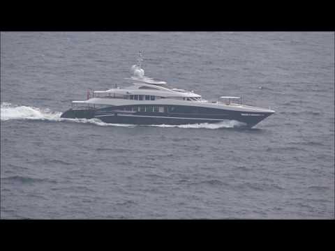 """The 49.8m/ 163'5"""" Heesen Yachts built Rocket off Monaco"""
