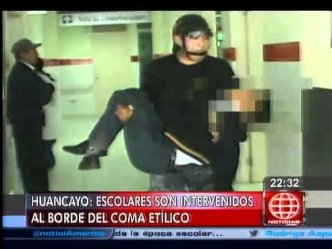 América Noticias - 090514 - Intervienen a escolares ebrios en Huancayo