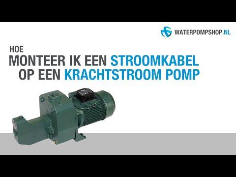 How To Stroomkabel Monteren Op Een Krachtstroom Pomp