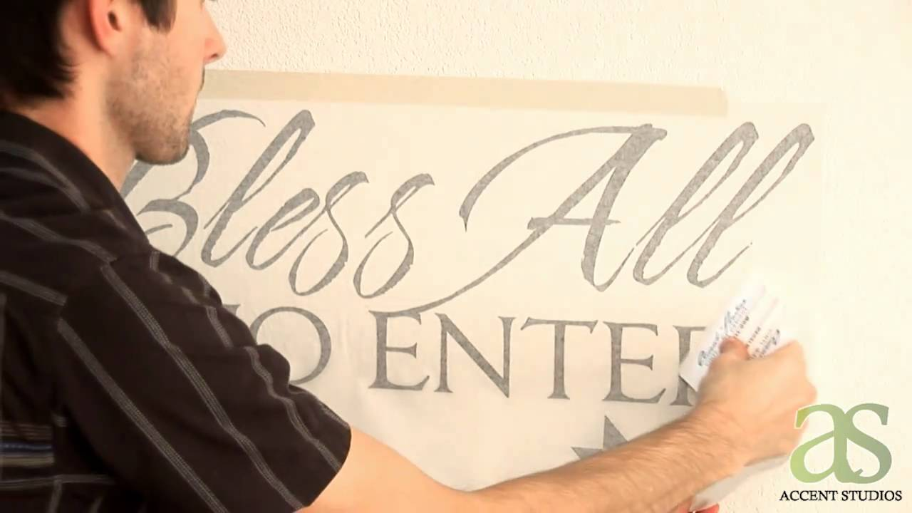 Wall Decals How To Apply a Wall Decal - Accent Studios Wall Decals - YouTube & Wall Decals: How To Apply a Wall Decal - Accent Studios Wall Decals ...
