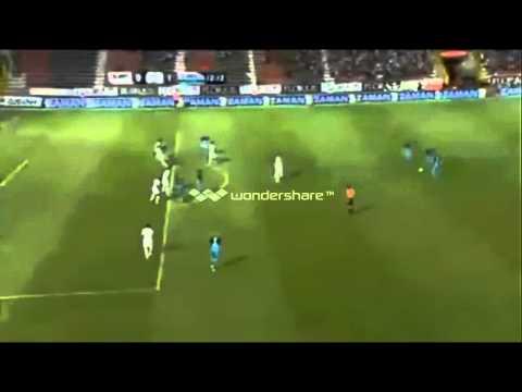 Ali adnan goal vs gaziantepspor from a free kick 2013