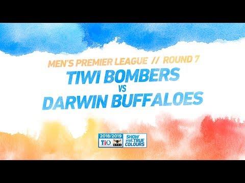 Tiwi Bombers vs Darwin Buffaloes: Round 7 - Men's Premier League: 2018/19 TIO NTFL