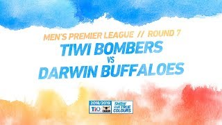 Tiwi Bombers vs Darwin Buffaloes: Round 7 - Men's Premier League: 2018/19 TIO NTFL