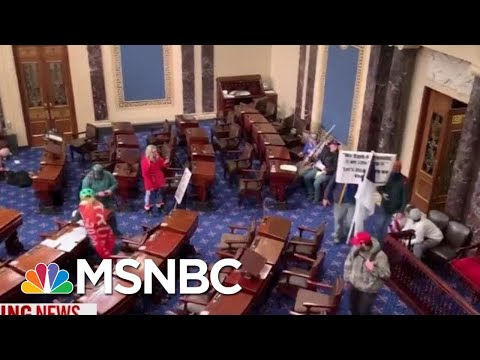 WATCH: Rioters Reach The Floor Of The House And Senate Chambers | MTP Daily | MSNBC