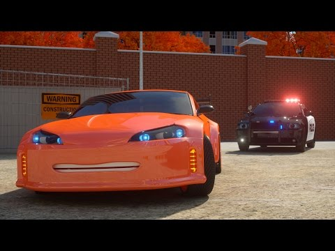 Catching Zack the Race Car - Sergeant Cooper the Police Car 2 | Police Chase Videos For Children
