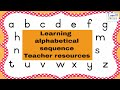 I Can - Learning alphabetical sequence - Teachers resources