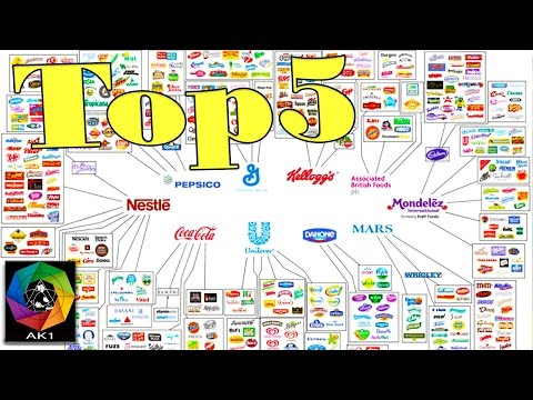 TOP5 des Plus Grosses Marques Alimentaires au Monde: Unilever Kraft Danone Nestlé Pepsico Coca Cola