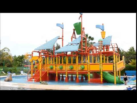 Kids pool and mini water park at tropical resort Iberostar Varadero, Cuba