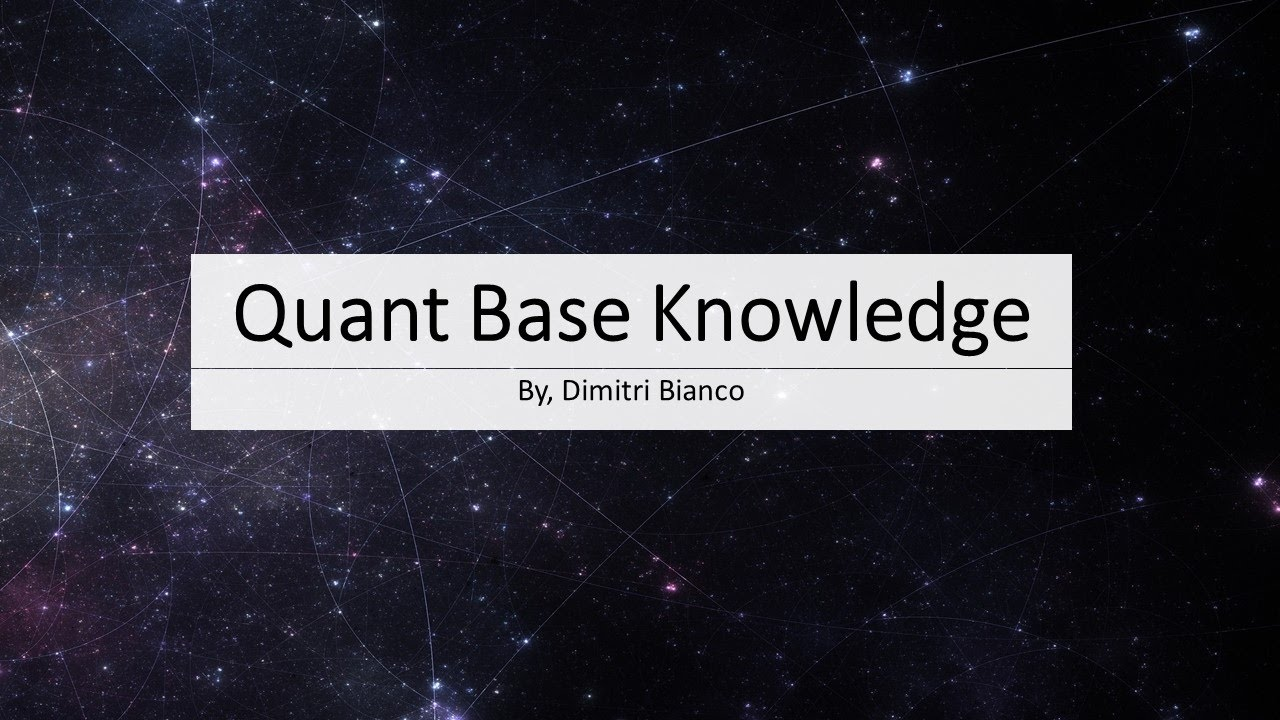 How to Become a Quant: Core Topics