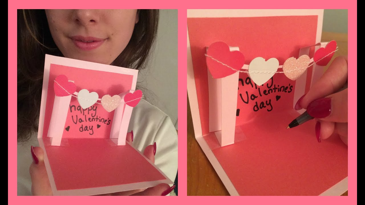 How to Make a Cute Homemade Pop Up Valentines Card VERY EASY – Homemade Valentine Cards Ideas