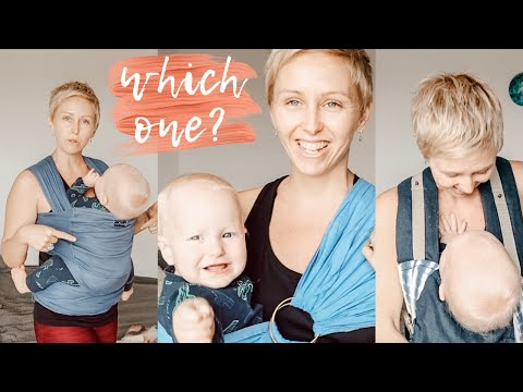 Which baby carrier to buy // wrap or ring sling or structured carrier?