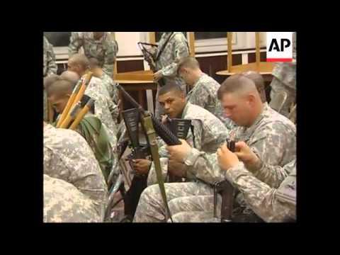 US troops arrive at base