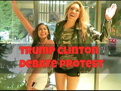 COVERAGE FROM OUTSIDE FIRST CLINTON-TRUMP DEBATE-GARY JOHNSON JILL STEIN BLACK LIVES MATTER PROTESTS