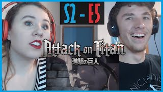 My Sister and I React to Attack on Titan S2 - E5