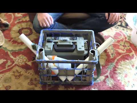 Kayak fishing diy milk crate bait bucket power box for Fishing caddy bucket