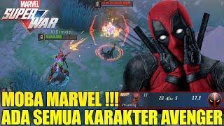 MOBA MARVEL ADA SEMUA KARAKTER AVENGER! TEST DEADPOOL PUNYA 8 SKILL!!! IMBA BANGET! MARVEL SUPER WAR