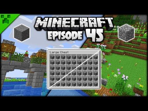 Bridges & Minecraft Stone Generators! | Python's World (Minecraft Survival Let's Play) | Episode 45