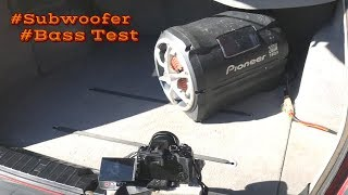 BMW E46 sound system + Pioneer TS-WX20LPA subwoofer bass test