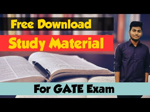 How To Download Free GATE Study Material