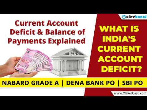 Current Account Deficit India   Balance of Payments   NABARD Grade A   Dena Bank PO   SBI PO