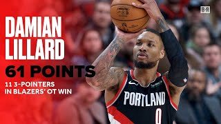 Dame Sets New Career High With 61 Points, Hits 11 Threes vs. Warriors