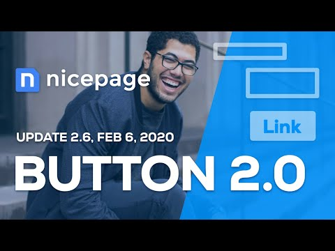Nicepage 2.6 - Button 2.0, Header And Footer Editing In WordPress And Joomla