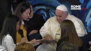 Pope visits Scholas Headquarters: Better to make mistakes in building than to folded arms