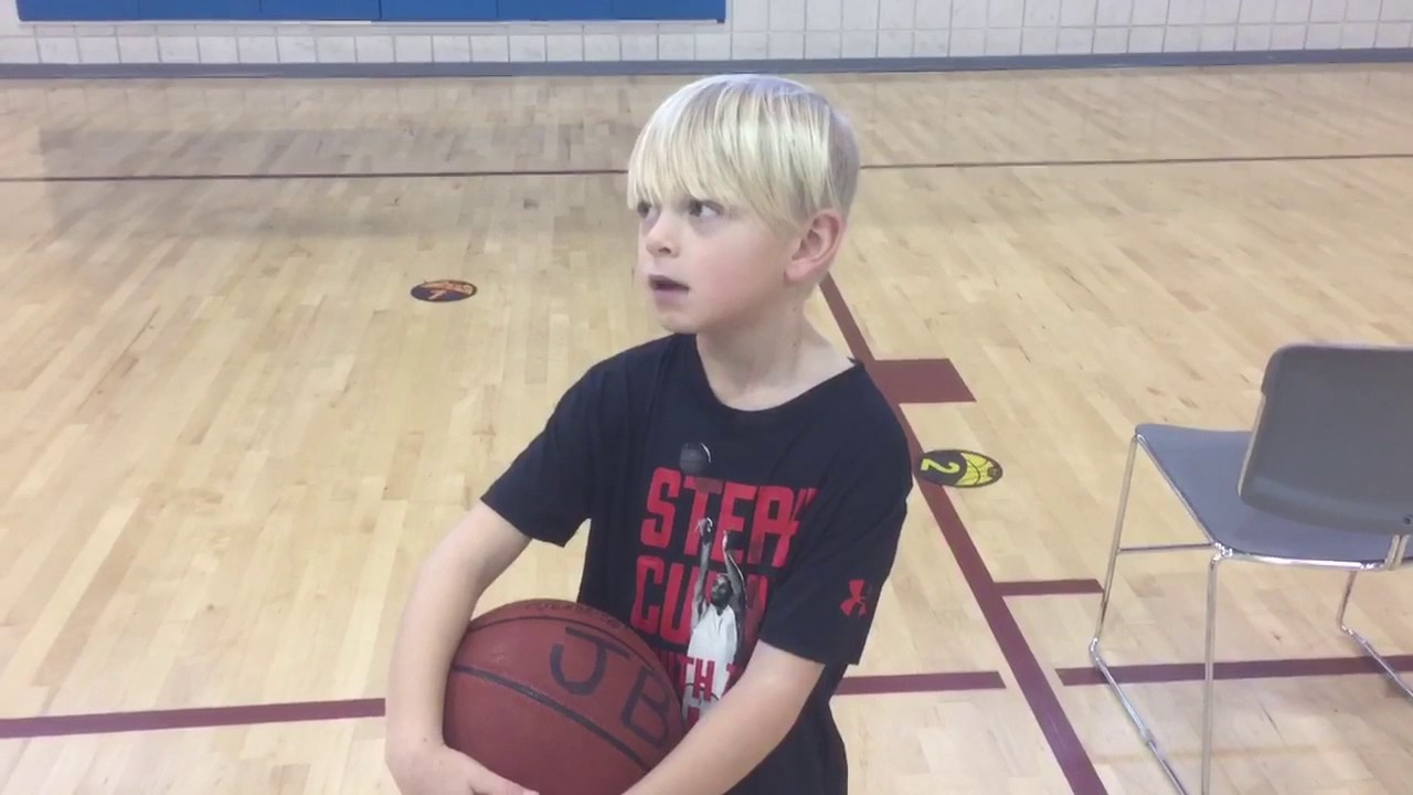 7 year old basketball shooting drills Part 2 | Jacetime - YouTube
