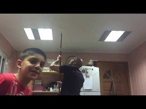 Dad and son prank daughter