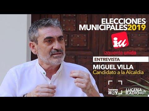 VÍDEO: ELECCIONES MUNICIPALES LUCENA 2019: Entrevista a MIGUEL VILLA (IU)