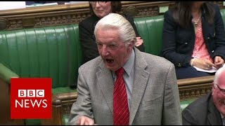 Dennis Skinner kicked out of Commons for calling David Cameron \